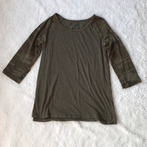 Camo sleeve T-shirt - XL